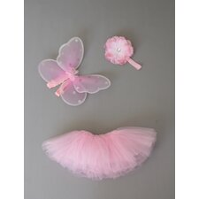 Baby Tutu Set with Fairy Wings and Headband