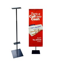 "<strong>Pinquist Tool & Die</strong> 48"" - 90"" Vertical Adjustable Banner Stand"
