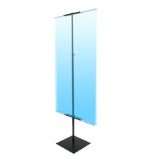 "48"" - 90"" Vertical Adjustable Light Weight Double-Sided Banner Stand"