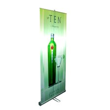 "<strong>Pinquist Tool & Die</strong> 35"" - 70"" Vertical Adjustable Double-Sided Banner Stand"