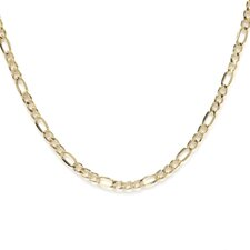 14kt Yellow Gold 3.5mm Figaro Chain
