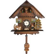 Quartz Cuckoo Clocks  Painted Chalet with Dancers Wesminster Design