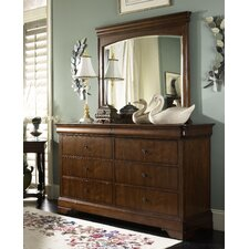 Louis Phillipe Dresser and Mirror Set