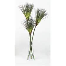 Silk Papyrus Grass Stems in Vase