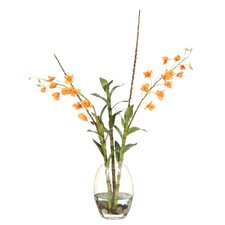 Silk Arrangement in Elliptical Vase