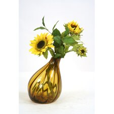 Silk Sunflowers in Gourd Vase