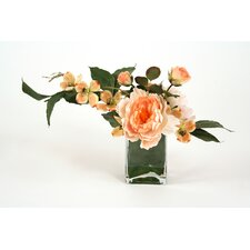 Silk Arrangement in Glass Vase