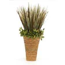 Silk Grasses Mix in Wall Basket