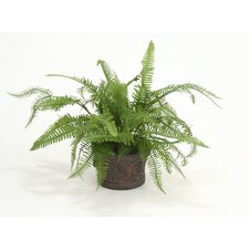 <strong>Distinctive Designs</strong> Silk Fern Mix Floor Plant in Planter