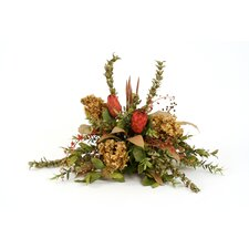 <strong>Distinctive Designs</strong> Silk Hydrangea, Berry, Protea and Myrtle Topper on Tray