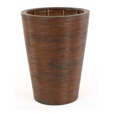 Silk Heliconia Leaf Floor Plant in Stained Pencil Rattan Planter