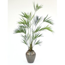 "92"" Kentia Palm Tree in Tall Stone Water Jar"