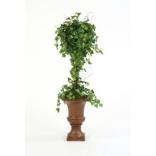 Silk Ivy Ball Topiary in Urn