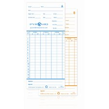 Time Card for Model 2600 Time Clock (Set of 100)