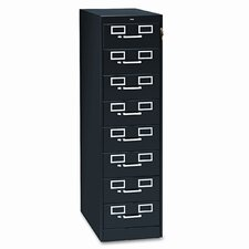 8-Drawer Card Filing Cabinet
