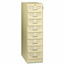 Tennsco Eight-Drawer Multimedia Filling Cabinet