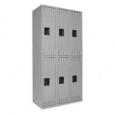 2 Tier 3 Wide Contemporary Locker