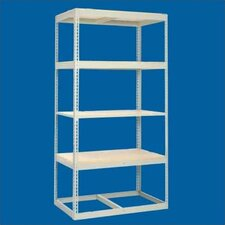 "Z Line Low Profile 84"" H 4 Shelf Shelving Unit Starter"