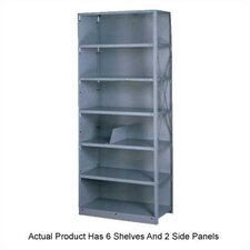 <strong>Tennsco Corp.</strong> Q Line Closed Shelving, 6 Shelves (Adder)