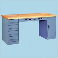 Electronic Workbench with Two Modular Drawers