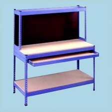 Rivet Style Workbench With Full Width Drawer