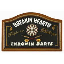 Breaking Hearts Throwing Darts Pub Sign