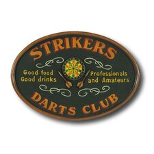Hand-Carved Strikers Darts Sign