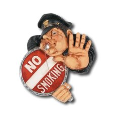 <strong>RAM Gameroom Products</strong> Hand-Carved No Smoking Officer Sign