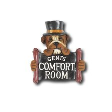 Hand-Carved Gents Comfort Room Sign