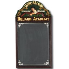 Hand-Carved Billiard Academy Sign