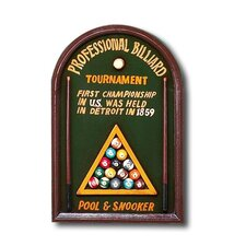 Hand-Carved Professional Billiard Sign