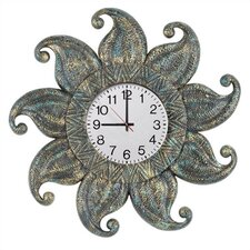 Dark Sun Outdoor Clock