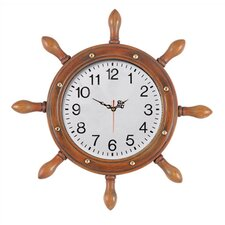 Large Captains Wheel Outdoor Clock