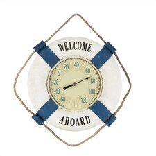 """Welcome Aboard"" Outdoor Thermometer"