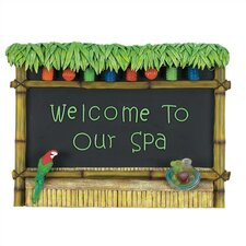 """Welcome To Our Spa"" Tiki Bar Sign"