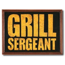 """Grill Sergeant"" Outdoor Sign"