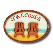 """Welcome"" Chairs Outdoor Sign"