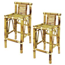 "<strong>RAM Gameroom Products</strong> Bamboo Tiki 28"" Barstool (Set of 2) (Set of 2)"