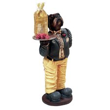 Outdoor Dog Waiter Statue