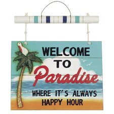 """Welcome to Paradise"" Wall Décor"