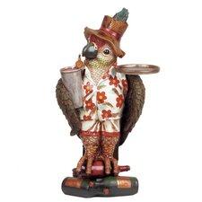 Parrot Waiter Statue