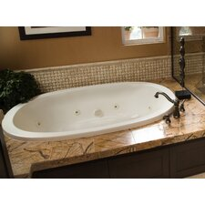 "Designer Galaxie 74"" x 44"" Whirlpool Tub with Combo System"
