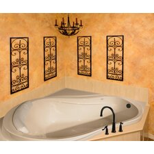 "Designer Eclipse 64"" x 64"" Whirlpool Tub with Combo System"