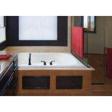 "Designer Evansport 60"" x 42"" Whirlpool Tub with Combo System"