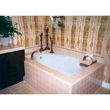 "Builder Hourglass 60"" x 42"" Whirlpool Tub"