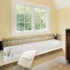 """Designer Caribe 72"""" x 36"""" Whirlpool Tub with Combo System"""
