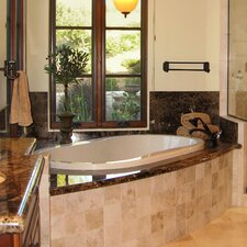 "Designer 66"" x 44"" Savannah Air Tub with Thermal System"