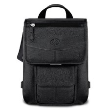 Premium Leather iPad Flight Jacket with Backpack Option in Black