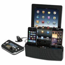 5 Port Smart Phone Charger with Bluetooth Speaker and Speakerphone