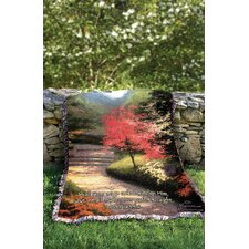 Afternoon Light Dogwood Tapestry Cotton Throw